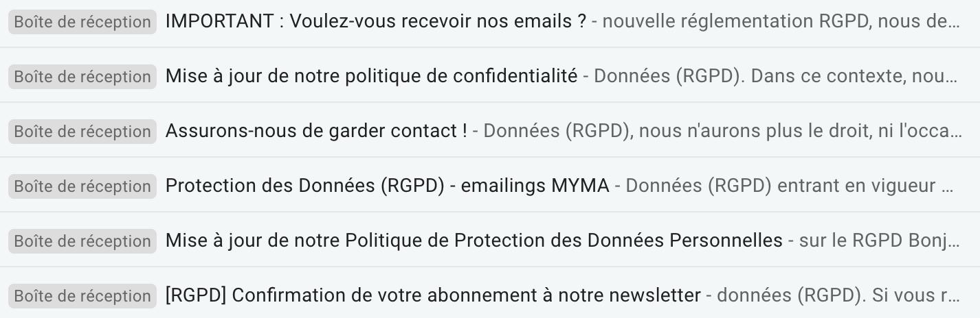 boite mail rgpd